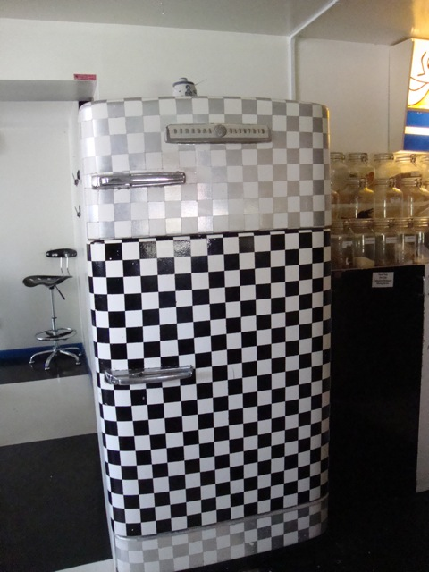 Checkered Refrigerator, Angelic Organics