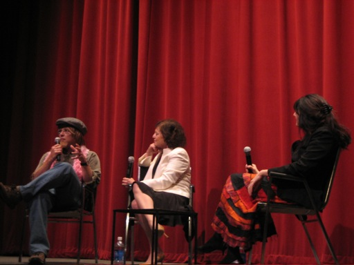 Your farmer, Janet Maslin, and Ruth Reichl on stage at Jacob Burns Film Center