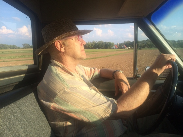 Farmer John tours the fields that are worked up for 2015, soon to be seeded to peas and tillage radishes.